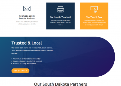 Mail Service Provider Website